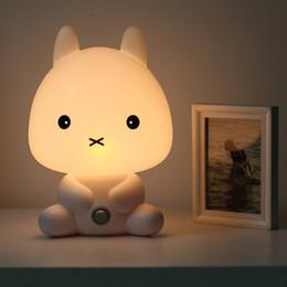 Wholesale Led Panda Lamp - NEW Baby Room Rabbit Bear Panda Dog Cartoon Animal Night Light Warm Lamp Children Night Sleeping Bed Room Lamp Best Gift For Kid