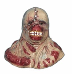 Wholesale costume resident evil - Scary Latex Mask Fortress of Fear game RESIDENT EVIL manic ghoul mask Halloween Party Mask Zombil Movie Game Cosplay