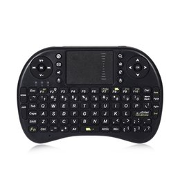 Wholesale Qwerty Keyboard Keys - Wholesale- Russian English Version UKB-500-RF 2.4GHz Wireless QWERTY English Keyboard Backlight 92 Keys Professional Typing Device for PCs