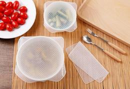 Silikon lebensmittel wraps online-Beliebte Saran Wrap Küche Werkzeuge Wiederverwendbare Silikon Lebensmittel Wraps Dichtung Vakuum Abdeckung Deckel Stretch