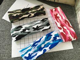 Kamuflaj Renk Yün Örme Kafa Saç Wrap Kadınlar için Baskı askeri Elastik Büküm Turban Yoga Spor Headbands Başlığı 20 adet / grup cheap military wrap nereden askeri sarma tedarikçiler