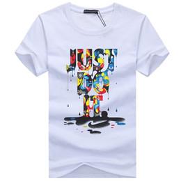 Wholesale Modal Tees Tops - 2017 New Letter Print T Shirt Mens Black And White Comic Con Cosplay T-shirts Summer Skateboard Tee Boy Skate Tshirt Tops F998