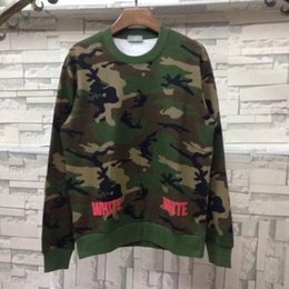 Wholesale Tie Dye Sweaters - New tie-dyed camouflage oblique striped couple round neck sweater cotton long-sleeved sets of bottoming shirt package shipping