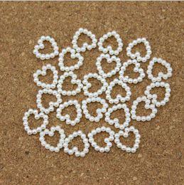 Telefone artesanal on-line-Eco Amigável Branco Pérola Beads Em Forma de Coração DIY Hairpin Acessórios Pérola Phone Wedding Cardmaking Artesanato 11mm * 11mm HOT