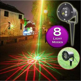 Wholesale Stage Lighting Stars - Real certification SUNY Waterproof Garden Laser Lights 8in1 Sky Star Outdoor Firefly Stage Lighting Landscape Light Green&Red Projector