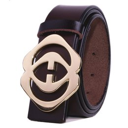 Wholesale Girls Strap Jeans - Men Belts Jeans Pants double G Genuine Leather 3 colors Unisex StraP High Quality size 105-125cm free shipping