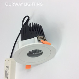 Wholesale Cool Bathrooms Design - Speical Design 6W 9W 12W 20W Directional Spot Downlight Center Hole Emitting Light Atmosphere Lamp Perfect for Hotel Dinning Hall