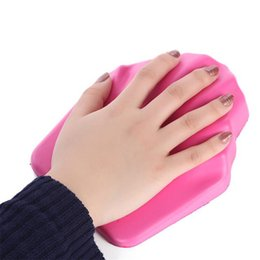 Wholesale Silicone Manicure Hands - Soft Silicone Nail Pillow Hand Rest Cushion Nail Polish Hand Holder Pink Manicure Base Tools Palm Cushions