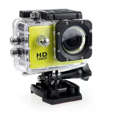 Wholesale Mini Dv Camera 5mp - Action Camera Sport DV 1080P Mini 30-Meter Waterproof 2 inch TFT LCD HD 5MP Helmet Camera Cam Extreme Action