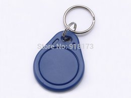 Wholesale Hotel Lock Wholesalers - Wholesale- 1000pcs RFID Key Fobs chain 125KHz Proximity ABS Key Tags Rewritable Access Control ATMEL T5577 Hotel Door Lock