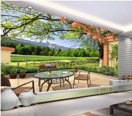 мода декор украшения дома для спальни трехмерный 3D пейзаж живопись гостиная ТВ стены от