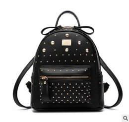 Wholesale Korean Small Backpack - 2017 star with a new summer Mini Bag rivets leisure bags small backpack female Korean tide
