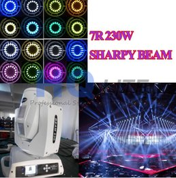 Wholesale Spot Moving Head Light White - FREE SHIPPING 2pcs white 7R 230W Touch Screen Beam Spot Moving Head Light 16 Prism Dmx Stage