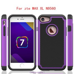 Wholesale Hybrid Football Case - For zte MAX XL N9560 For Samsung galaxy S8 PLUS J7 prime Metropcs Armor case Shockproof Hybrid Rubber Football Skin Hard Back cover