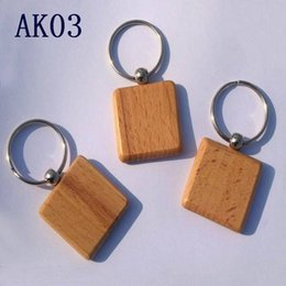 Wholesale Keychain Blanks Wholesale - Cute Customized Blank Wooden Keychains Personalized Keychain Carving DIY Rectangle Square Round Heart Shape As Ideal Gift