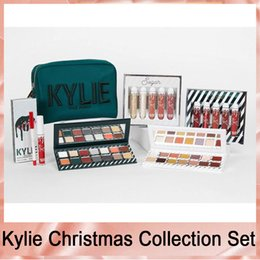 kylie jenner lip kits Coupons - Kylie Jenner Kyshadow Kit Xmas Holiday Collection Set Naughty & Nice Eyeshadow The Wet Set Velvet Liquid Lipsticks & Lip Liner Makeup Box