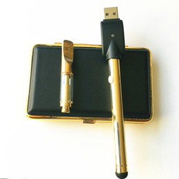 Wholesale Мини Vape Kit Золотой стеклянный бак комплект резьба V стартовые комплекты Vape E Cigs VS EGO CE3 Bud touch pen