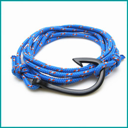 Wholesale Wristbands For Boys - FREE SHIPPING 10PCS Lot Bracelets Bracelet Metal Fish Hook Bracelets for Men Bangles Fashion Wrap Wristband Summer Style Girl Boy Best Gifts