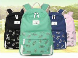 Wholesale Book Plants - 2017. New pattern. Ladies shoulder bag. Fashion casual canvas bag. Schoolbag. Backpacks. Travel. Girl. Soft. Plant diagram. Book bag.