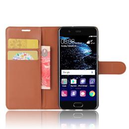 Bolsa lite online-Para Huawei P20 Lite Pro Monedero Litchi de cuero Tapa de teléfono suave de TPU Ranuras para tarjetas Titular Funda con tapa plegable para P10 más Honor