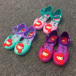 Wholesale Wholesales Kids Shoes Sandals - Melissa jelly shoes Girls Mermaid princess Sandals children Flat Sandal kids Soft bottom shoes girls fragrance sandals 6115