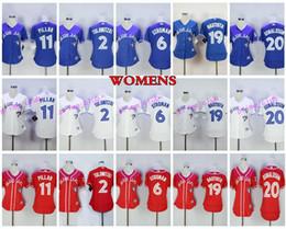 Wholesale Toronto 19 - 2017 Women's Toronto Blue Jays Baseball Jersey 20 Josh Donaldson 19 Jose Bautista 6 Marcus Stroman 11 Kevin Pillar 2 Troy Tulowitzki Ladies