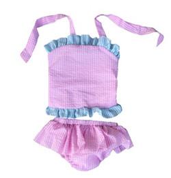 Wholesale Metallic Blue Bikini - 2017 Top selling Kids princess Girls bathing suits Swimsuit For Girls Shoulder Bathing Suit Baby Infant