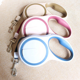 Wholesale High Grade Dog Collars - Factory Direct sell Top Brand 3M 5M High-Grade Stable Durable Automatic Retractable Dog Traction Rope Leashes Pet Leads