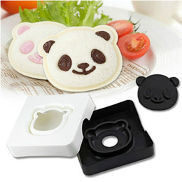 Wholesale Cake Bread Boxes Wholesale - Wholesale- Panda-Shaped DIY Sandwich Cutter mold Maker Snack Cakes Bread toast Box lunch Rice mold
