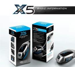 Argentina El más nuevo X5 Bluetooth manos libres transmisor FM Kit de coche Reproductor de música MP3 Adaptador de radio Trabajar con tarjeta TF Disco de U para iPhone Samsung Smartphone Suministro