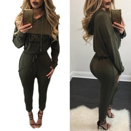 Wholesale Cropped Hoodies Wholesale - Wholesale- Long Sleeve Cropped Hoodies Sexy Rompers Womens Jumpsuit Bodycon Jumpsuit Macacao Full Length Jumpsuits Overalls Fenty Harajuku