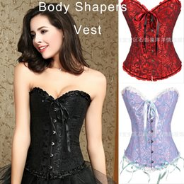 Wholesale Steel Corset Dress - Free shipping Plus Size Sexy Corsets and Bustiers Waist Training Corset For Wedding Dress Shapewear Steel Boned Overbust Corset Corpetes 6