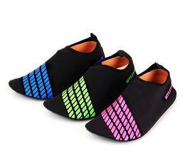 Wholesale Water Socks Men - Men Woman Barefoot Skin Sock Striped Shoes Beach Pool GYM Aqua Water Socks Beach Swim Slipper On Surf