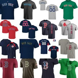 Wholesale T L Name - Factory Outlet Custom Boston red sox 2017 mens womens youth Big&tall throwback V-neck Please leave any name any number T-Shirts size XS-6XL