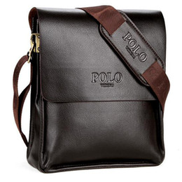 Wholesale Messenger Shoulder Bag Briefcase - Mens Briefcase Business Bags Casual Business PU Leather Mens Messenger Bag Vintage Men's Crossbody Bag Bolsas Black Brown Shoulder Bags