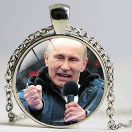 Wholesale Crystal Marketing - President of Russia Putin Photo Charm Necklace Vladimir Putin Pendant a pro-market Democratic Reformer Necklace Jewelry
