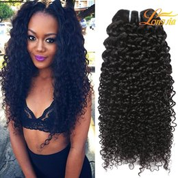 Wholesale top hair factory - Factory Price Peruvian Virgin Human Kinky Curly Hair Extension Top Quality Unprocessed Kinky Curly Dyable Natural Color #1B Free Shipping