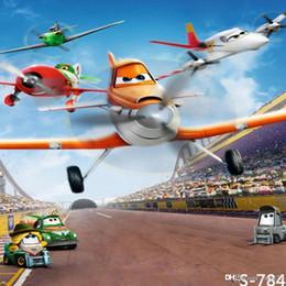 Wholesale Cartoon Backdrops - 5x7ft Vinyl Kids Cartoon Propeller Plane Toy Photography Studio Backdrop Prop Background