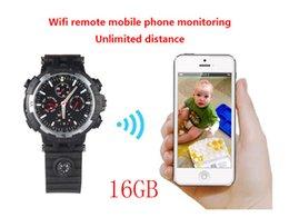 Wholesale Remote Spy Camera Monitor - 720P HD WIFI Watch Remote Monitoring Camera Watch Support LED floodlight Separate Voice-Recording IR Night Vision 16GB,Y31 watch spy camera