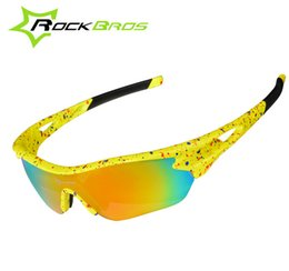 Wholesale Rockbros Polarized Sunglasses - Wholesale- ROCKBROS Outdoor Sports Cycling Eyewear UV400 Polarized Cycling Glasses Mountain Bike Glasses Sunglasses Gafas Cicismo 3 Lenses