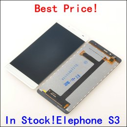 "Wholesale Lcd Touch Screen S3 - Wholesale- LCD Display +Digitizer Touch Screen Assembly For Elephone S3 Cellphone 5.2"" Black   White color In Stock!"