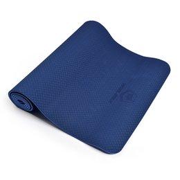 Wholesale Folding Yoga Mats - Wholesale-New TPE Yoga Mat tasteless colchonete Folding Non-slip Surface Natural Rubber Mats fitness yoga gym exercise mats 183*61*0.6CM