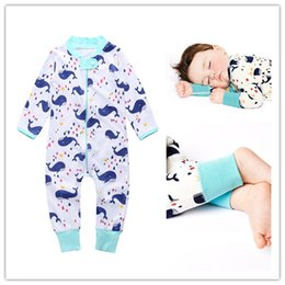 Wholesale Infant Cute Romper Designs - INS Baby Romper Cute Cartoon Whale Design Boys Girls Bodysuits Jumpsuit Sleepsuit Newborn Infant Baby Climb Clothes Kids Clothing 341
