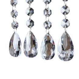 Wholesale Wedding Tree Centerpiece Crystal - 12 strands Acrylic Crystal Bead Hanging Strand For Wedding Manzanita Centerpiece Trees free shipping