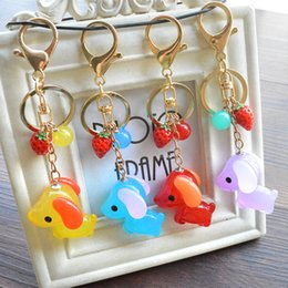 Wholesale Jewelry Doll Holders Wholesale - Good A++ New cute little dog pendant bag ornaments key holder jelly doll jewelry KR313 Keychains mix order 20 pieces a lot