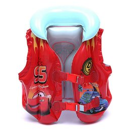 Wholesale Child Inflatable Life Vest - Wholesale- Thicken Child Inflatable Swim Vest Kid Swim Trainer Fishing Life Jacket Inflatable Flamingo Donut Swan Swimming Pool Accessories