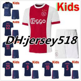 Wholesale Quality Boys - Best quality 17 18 Ajax kids soccer Jersey kits KLAASSEN MELIK DIJKS EL GHAZI YOUNES 2017 2018 Children football shirts