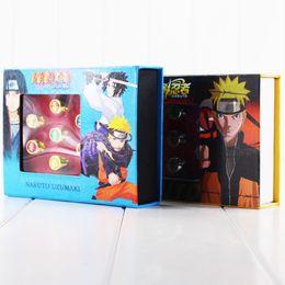 Wholesale Naruto Akatsuki Rings - 10pcs lot Anime Naruto Akatsuki Member Cosplay Finger Rings Sasori Itachi Hidan Deidara Costume Accessory Figure Toys