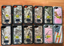 Wholesale Defender Case Retail - 3 in 1 Defender Robot cell phone Case military cover camouflage army for iphone 7 6s 6 5s plus samsung s8 s7 edge Belt Clip retail package