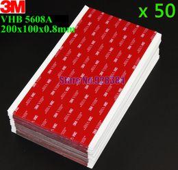 Wholesale 3m Sided Vhb Tape - Wholesale- 2016 50pcs lot 3M VHB 5608 Double Sided Adhesive Acrylic Foam Tape Mounting Tape Gray 20cm*10cm*0.8mm